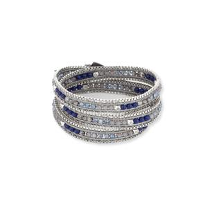 Nakamol Blue Mixed Wrap Bracelet
