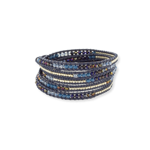 Nakamol Dark Blue Mixed Wrap Bracelet