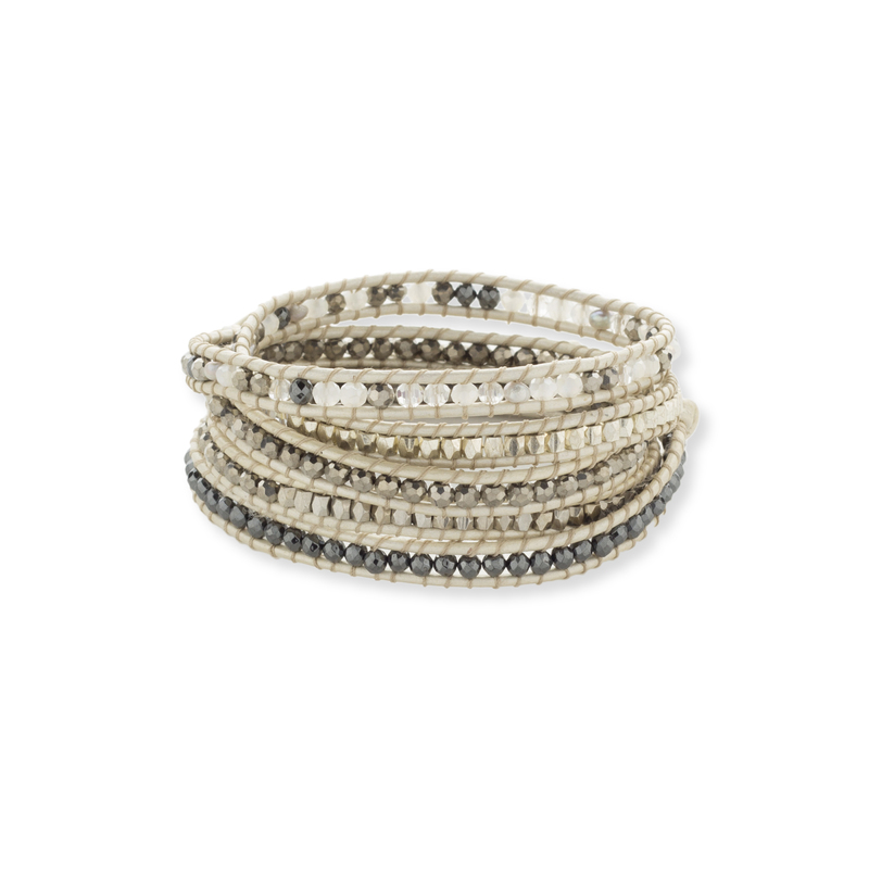Nakamol Mixed Cream Wrap Bracelet