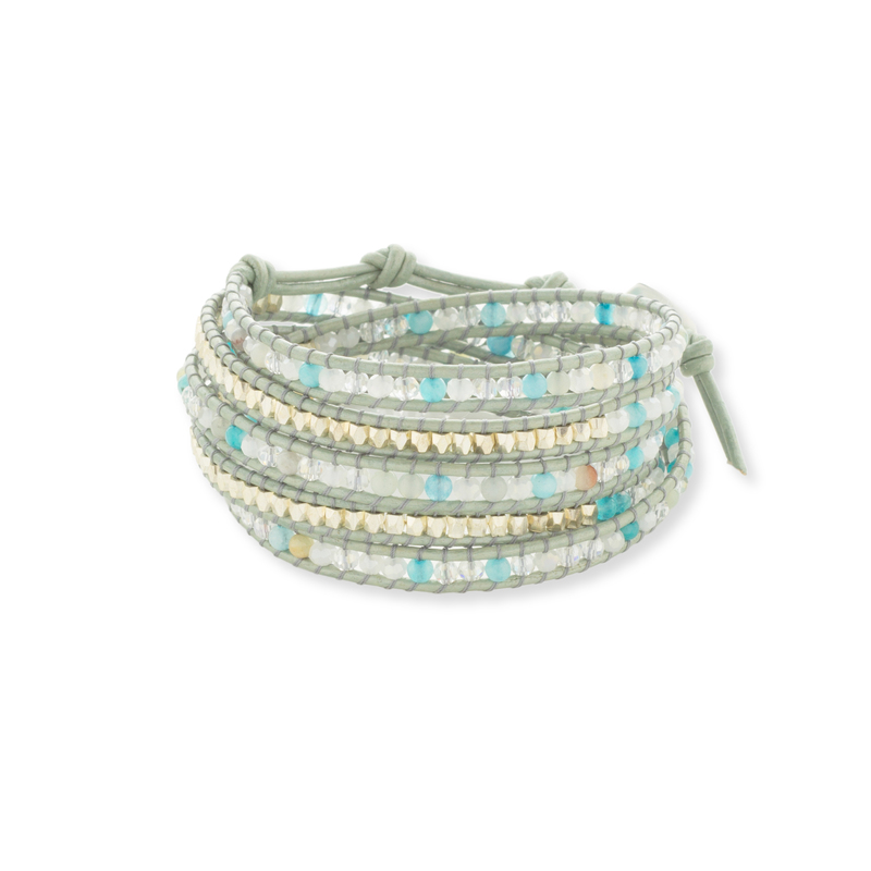 Nakamol Mixed Blue Wrap Bracelet