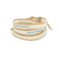 Nakamol Cream and Mixed Beads Wrap Bracelet