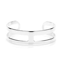a.v. max Double Bar Cuff in Silver