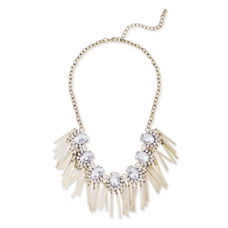 Urban Gem Jeannette Fringe Necklace