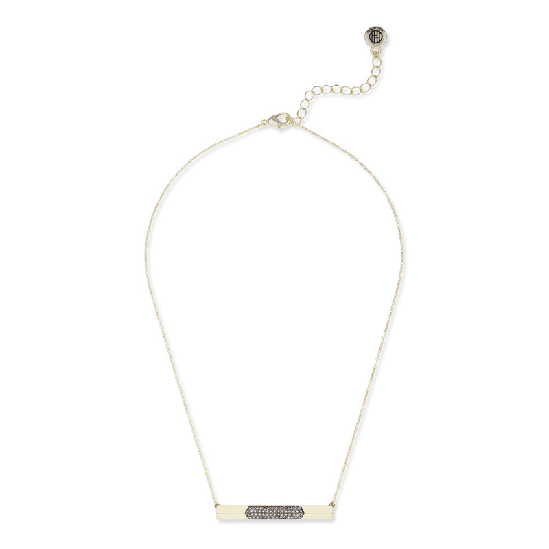 House of Harlow 1960 Modern Revival Bar Necklace in White