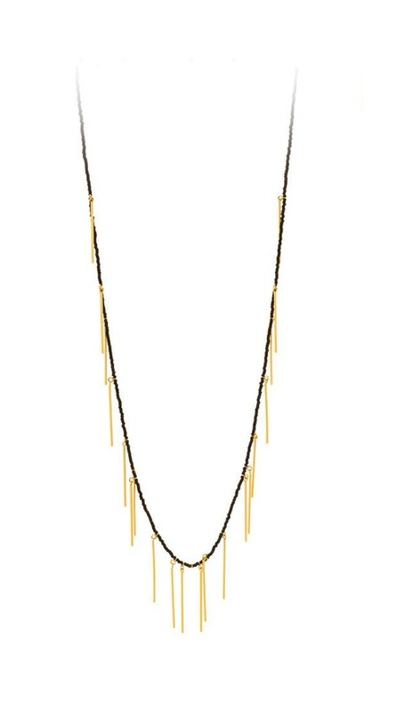 Gorjana Marmont Beaded Necklace in Black