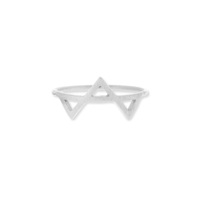 Wanderlust + Co Tri-Geo Silver Ring
