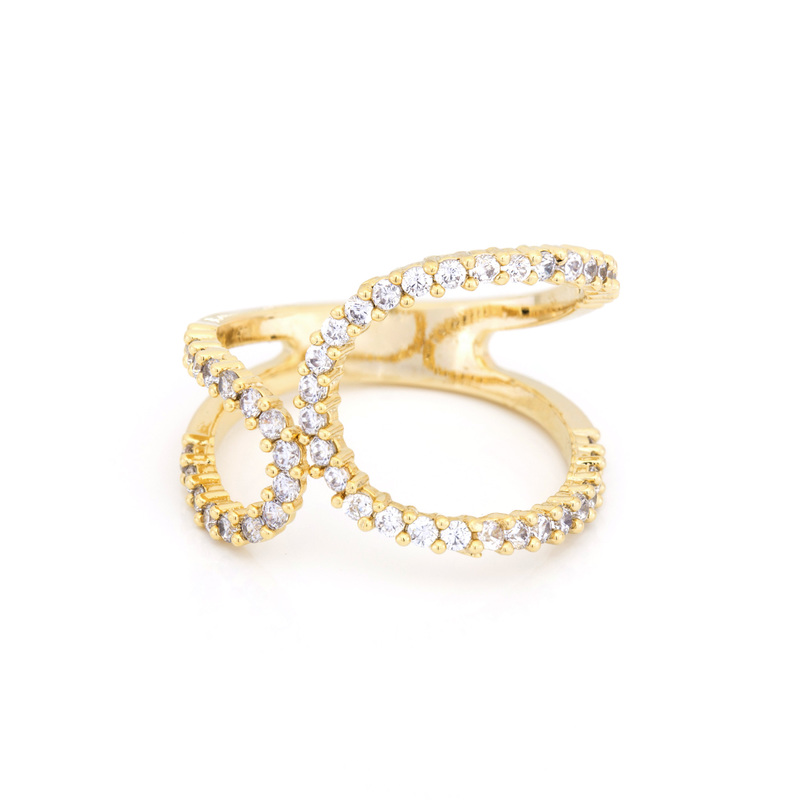 Wanderlust + Co Crystal Wrap-Around Gold Ring