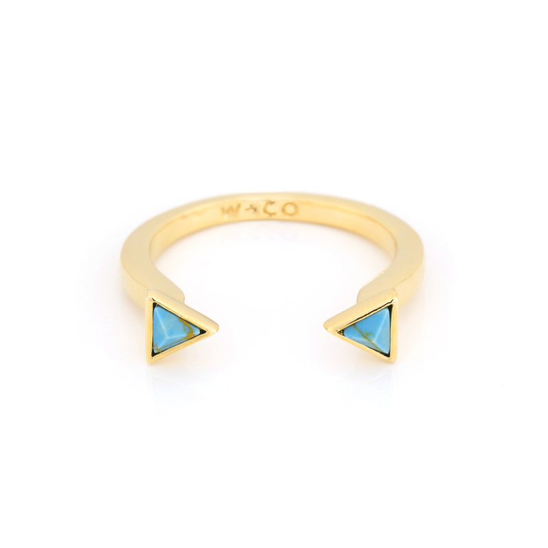 Wanderlust + Co Dusk To Dawn Turquoise Ring in Gold