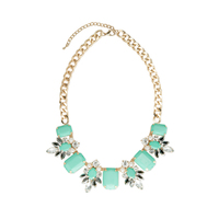 Urban Gem Katrina Necklace in Mint