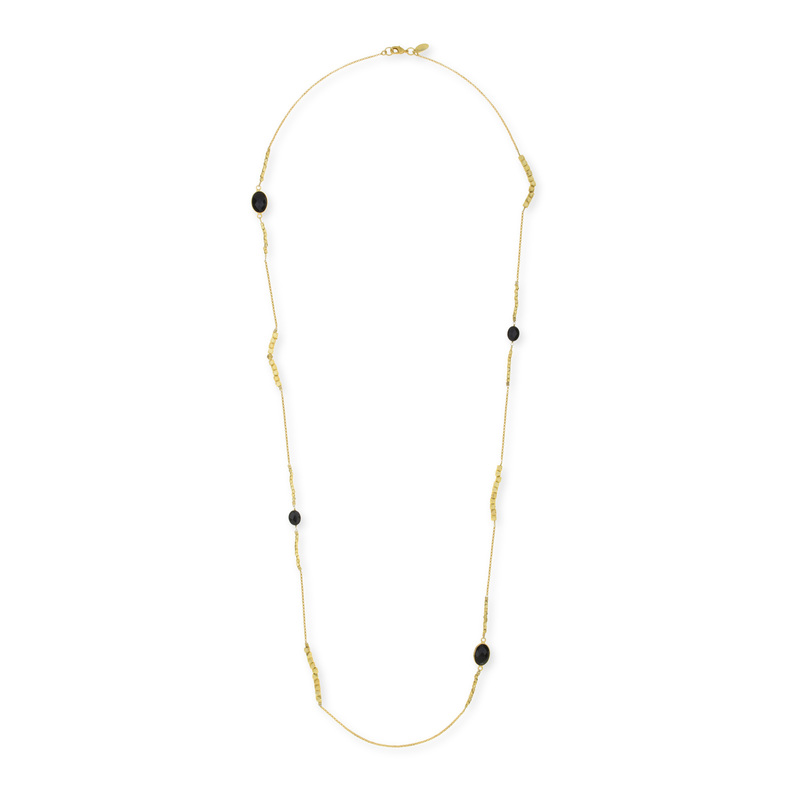 Ashiana London Katia Long Necklace in Black