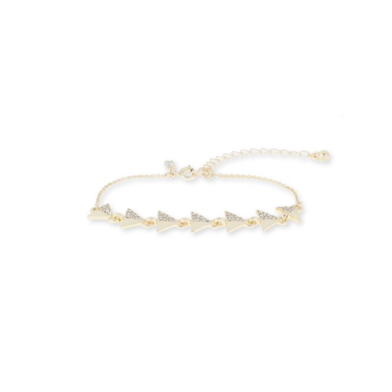 SLATE Half Pavé Triangles Bracelet