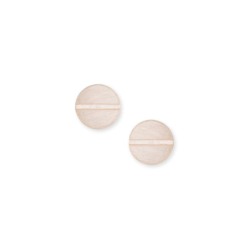SLATE Screwed Earrings in Gold