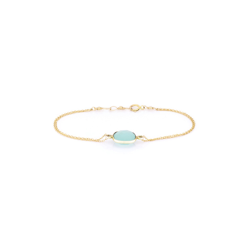 Bella Boutique Ruth Double Chain Station Bracelet in Aqua