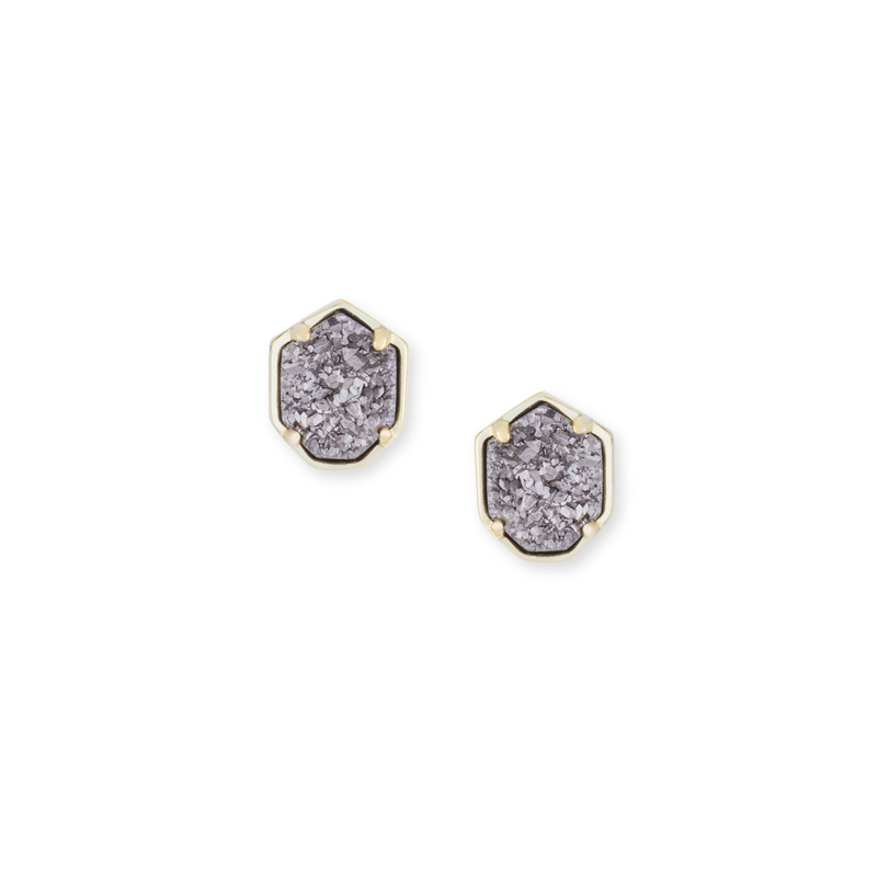 Kendra Scott Logan Earring in Platinum Drusy