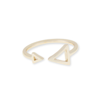 Sophie Harper Double Arrow Ring in Gold
