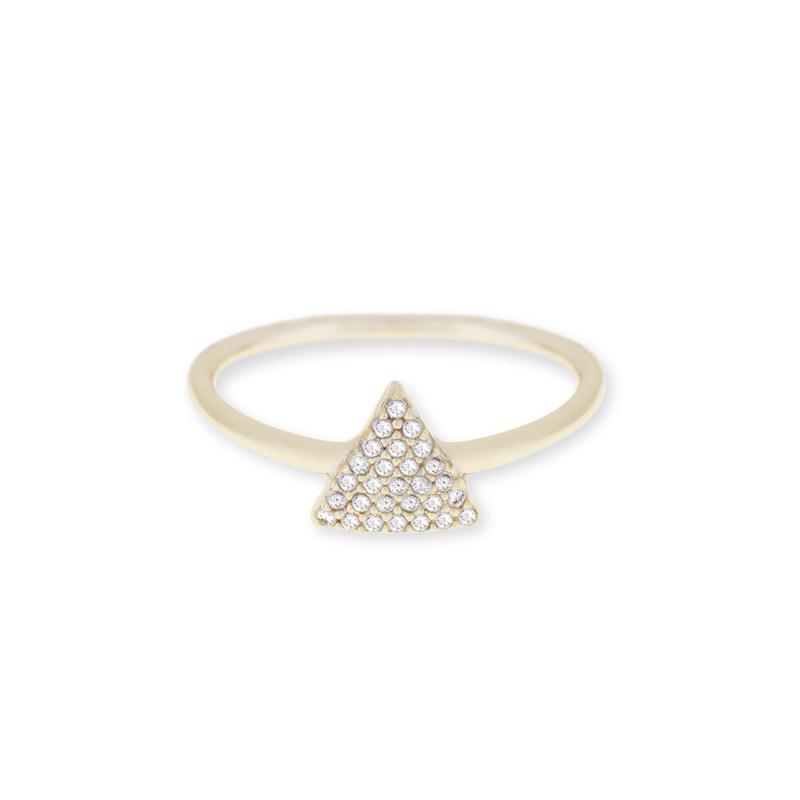 Sophie Harper Pavé Triangle Ring in Gold