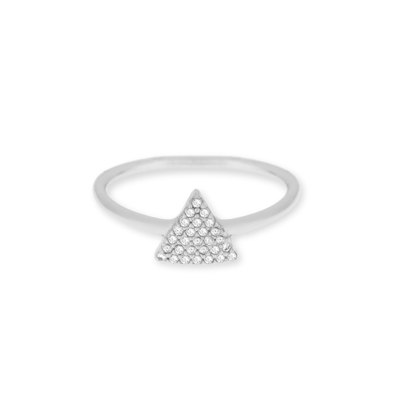 Sophie Harper Pavé Triangle Ring in Silver