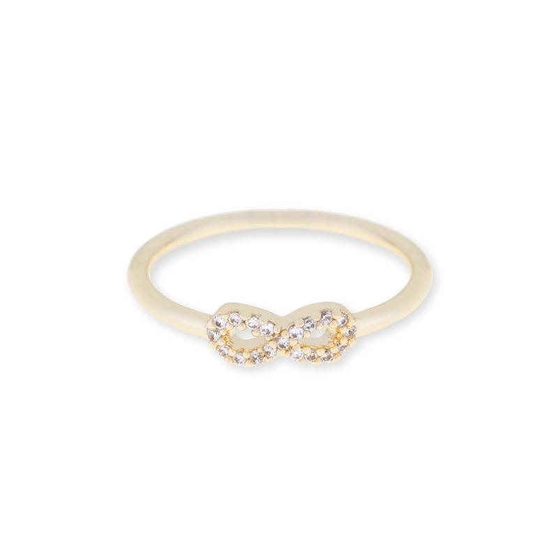 Sophie Harper Pavé Infinity Ring in Gold