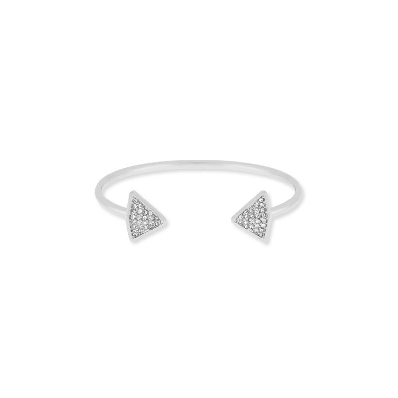 SLATE Follow Your Arrow Cuff in Silver
