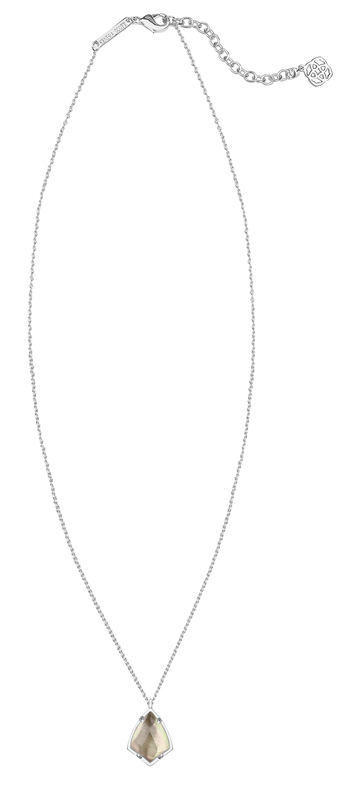 Kendra Scott Cory Necklace in Black Mother of Pearl