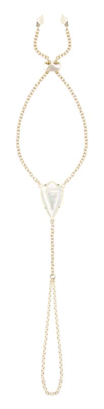 Kendra Scott Lyle Hand Bracelet in Ivory Mother of Pearl