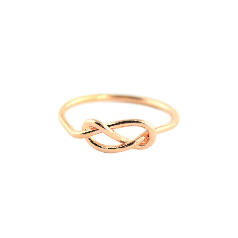 Wanderlust + Co  Infinity-Pretzel Rose Gold Ring