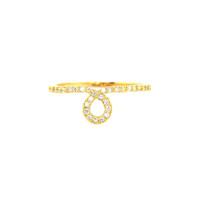 Wanderlust + Co  Loop Crystal Gold Ring