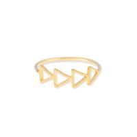 Wanderlust + Co Multi-Tri Gold Ring