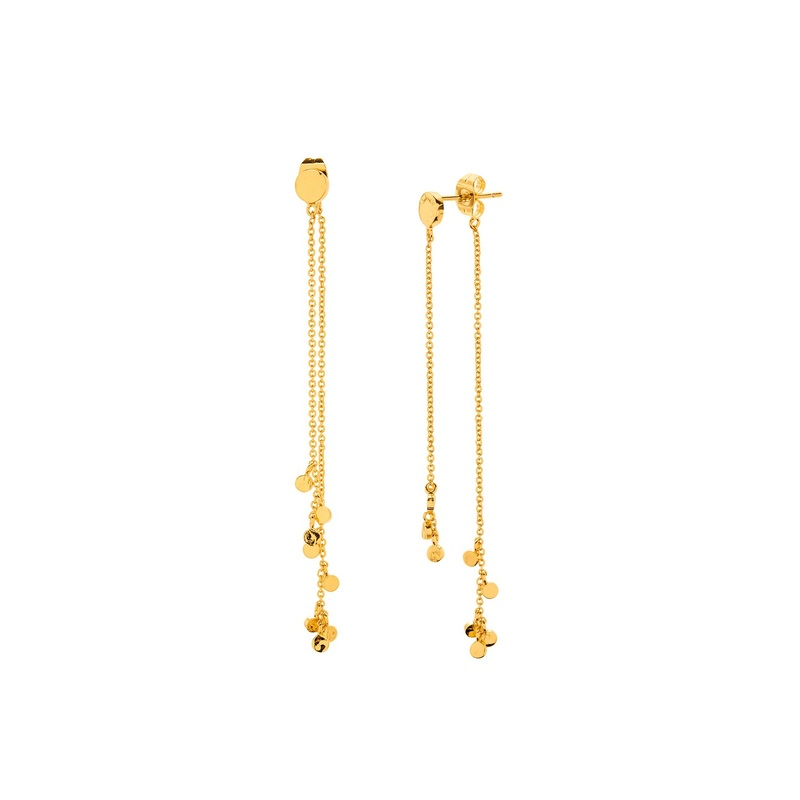 Gorjana Chloe Mini Double Drop Earrings in Gold