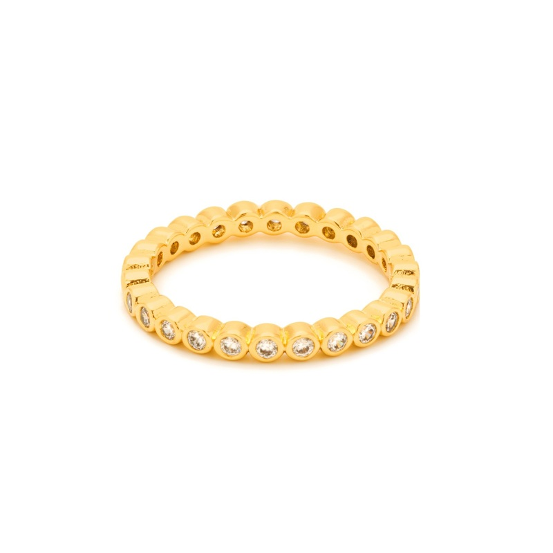 Gorjana Candice Shimmer Ring in Gold