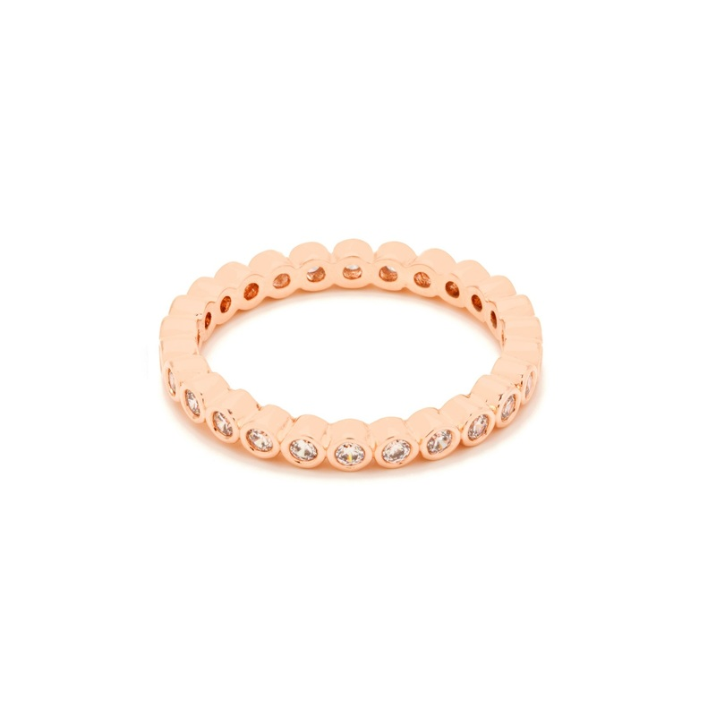 Gorjana Candice Shimmer Ring in Rose Gold