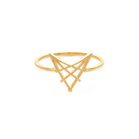 Wanderlust + Co Arrowhead Gold Ring