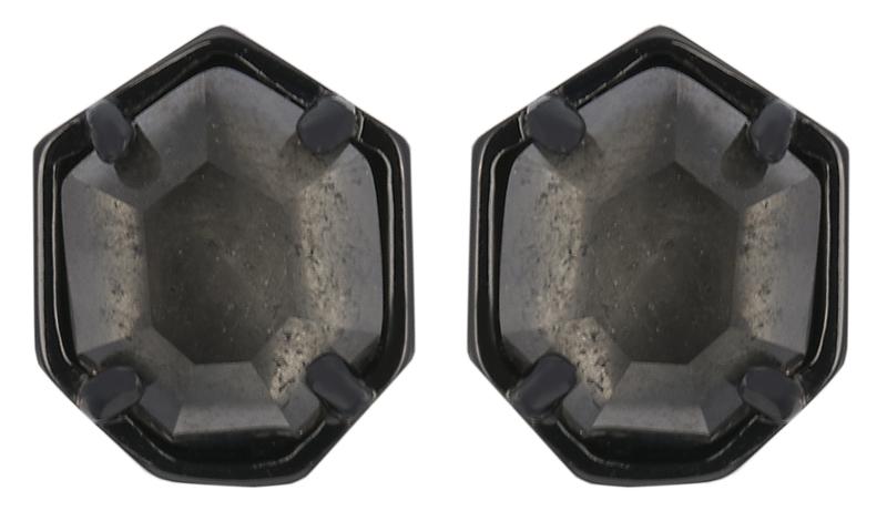 Kendra Scott Logan Gunmetal Earring in Mirror Rock Crystal