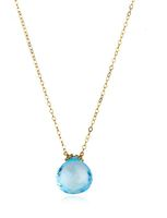 Amelia Rose Emily Necklace in Gold & Sky Blue Topaz