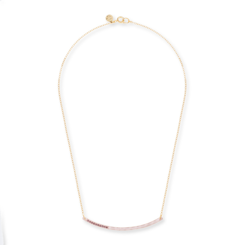 Gorjana Taner Shimmer Necklace in Rose Gold