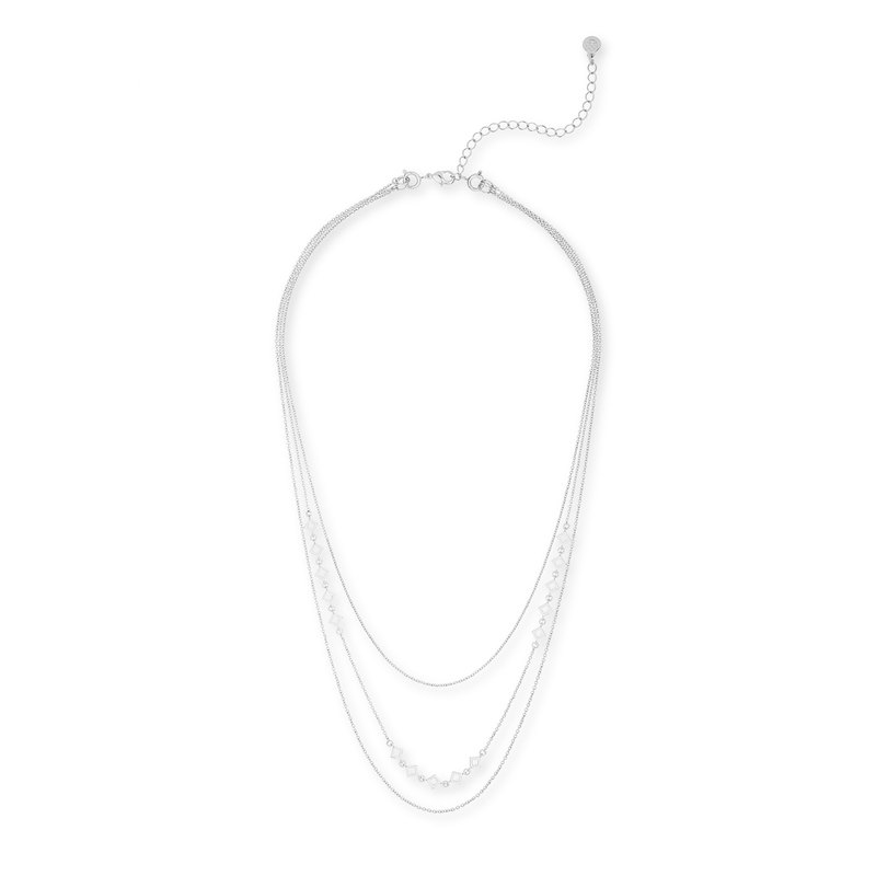 Gorjana DIY Necklace with Cutout Diamond Chain in Silver