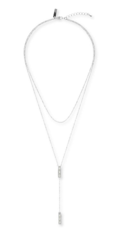 Nicole Meng Goddess Necklace in Platinum
