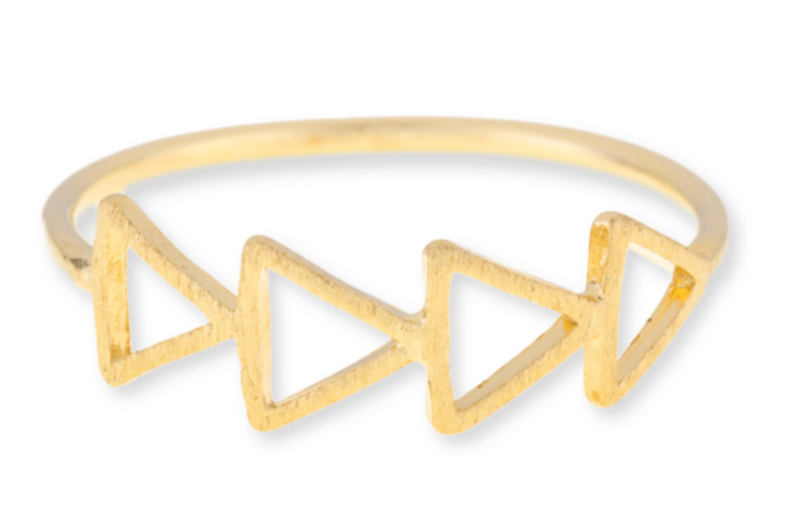 Wanderlust + Co Multi-Tri Gold Ring