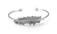 Jill Michael Feather Cuff in Silver