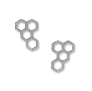 Jill Michael Honeycomb Stud Earrings in Silver