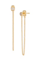 Gorjana Pristine Mini Chain Loop Studs