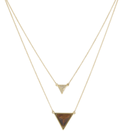 House of Harlow 1960 Temple Pendant Necklace in Gold and Tiger's Eye