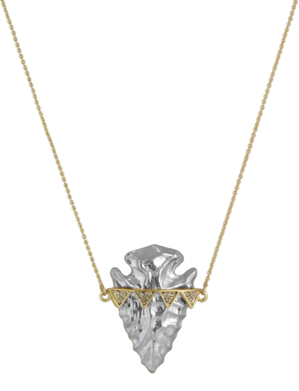 House of Harlow 1960 Mojave Arrowhead Pendant Necklace in Gold and Silver