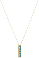 House of Harlow 1960 Peak to Peak Pendant Necklace in Gold and Turquoise