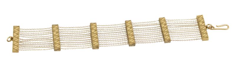 House of Harlow 1960 Peak to Peak Chain Bracelet in Gold