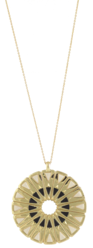 House of Harlow 1960 Heirloom Pendant Necklace in Black