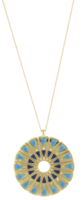 House of Harlow 1960 Heirloom Pendant Necklace in Turquoise