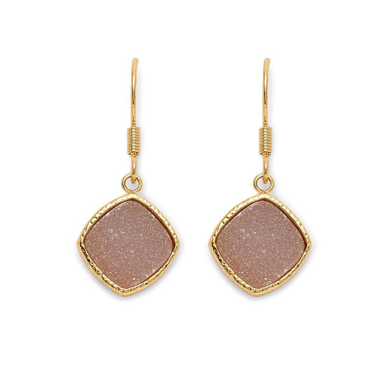 Elise M Phoebe Earrings in Ice Druzy