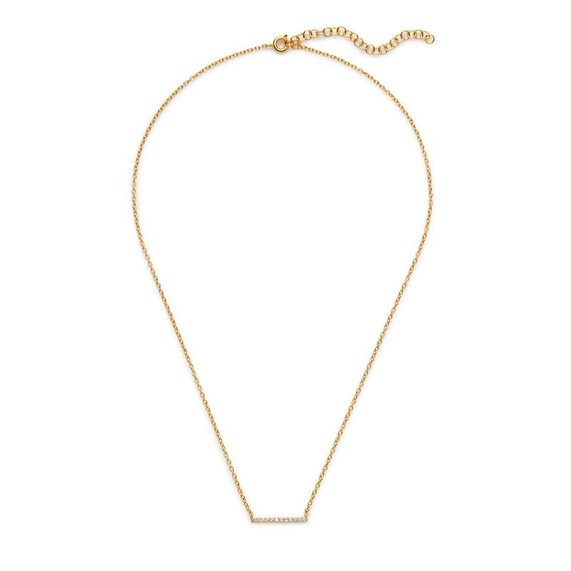 Gorjana Knox Pavé Bar Necklace