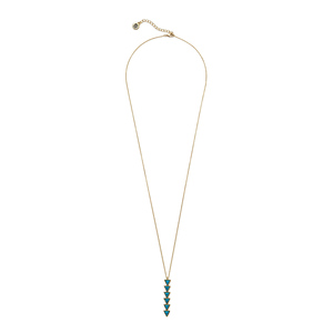 House of Harlow 1960 Ascension Pendant Necklace in Turquoise
